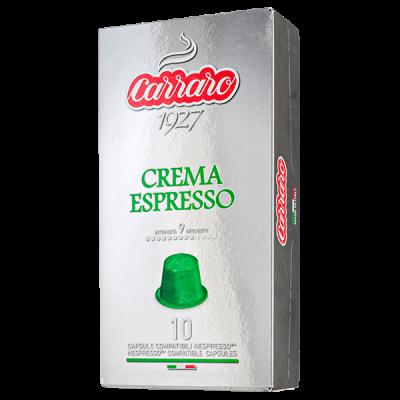 кофе капсулы  CARRARO CREMA ESPRESSO 1 уп х  10 капсул