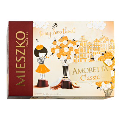 конфеты MIESZKO AMORETTA CLASSIC 324 г  1 уп.х 7 шт.