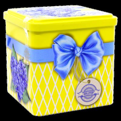 чай HILLTOP в подарочном кубе 'Нежные незабудки' ж/б 100 гр.