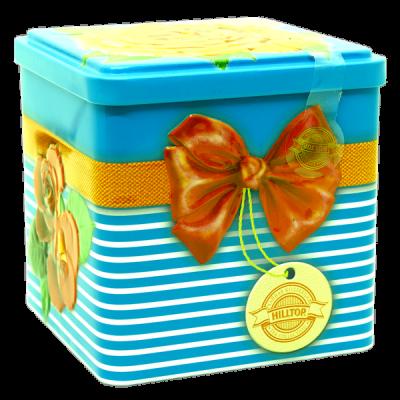 чай HILLTOP в подарочном кубе 'Цветущие розы' ж/б 100 гр.