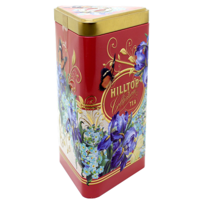чай HILLTOP в подарочном трехграннике 'Букет ирисов' ж/б 80 г 1 уп.х 14 шт.