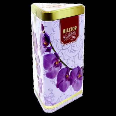 чай HILLTOP в подарочном трехграннике 'Цветущие Орхидеи' ж/б 80 г 1 уп.х 14 шт.