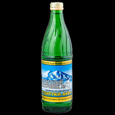 Вода минеральная Курортный Источник № 4 газированная  0,5 л ст/б