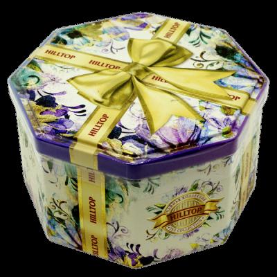 чай HILLTOP в подарочном восьмиграннике 'Золотой бант' с чабрецом ж/б 150 г 1 уп.х 12 шт.