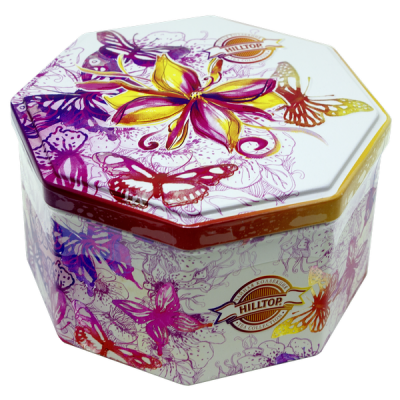 чай HILLTOP в подарочном восьмиграннике 'Хорошее настроение' ж/б 150 г 1 уп.х 12 шт.