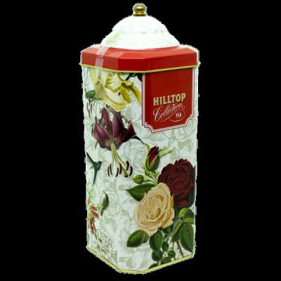 чай HILLTOP в праздничном оформлении 'Орхидеи и розы' ж/б 125 гр.