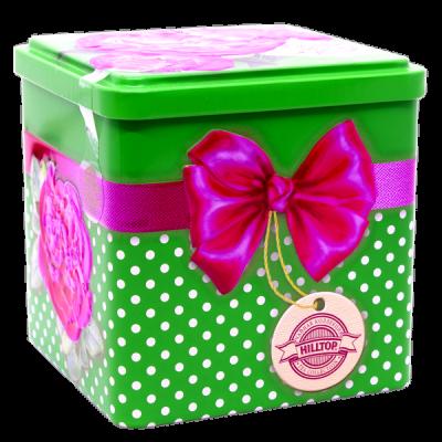 чай HILLTOP в подарочном кубе 'Бархатные пионы' ж/б 100 гр.