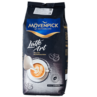 кофе MOVENPICK Latte Art 1 кг зерно 1 уп.х 4 шт.