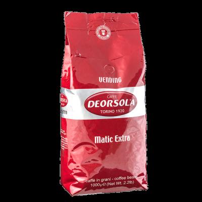 кофе DEORSOLA MATIC EXTRA 1кг зерно 1 уп.х 6 шт.
