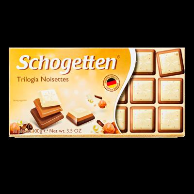 шоколад SCHOGETTEN Trilogia Noisettes 100 г 1уп. х 15шт.