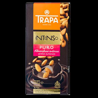 шоколад TRAPA INTENSO Темный c цельным миндалем 190 г 1уп.х 17шт.