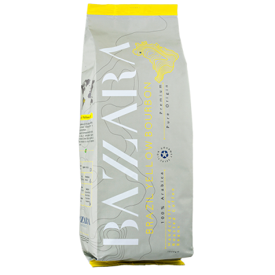 кофе BAZZARA BRAZIL YELLOW BOURBON 1кг зерно