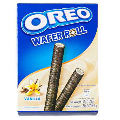 печенье Орео WAFER ROLL VANILLA 54 г 1уп.х 20 шт.