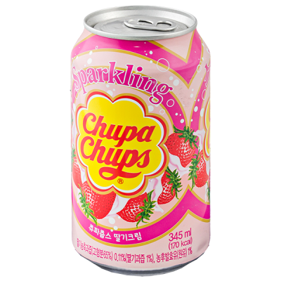 Напиток Chupa Chups Strawberry cream 345 мл ж/б 1 уп.х 24 шт.