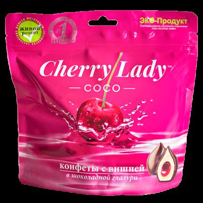 конфеты CHERRY LADY COCO с Вишней в Шок Глазури 140 г 1 уп.х 20 шт.