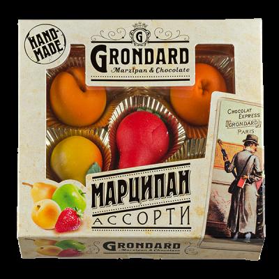 конфеты GRONDARD МАРЦИПАН АССОРТИ  100 г 1 уп. х 12 шт.