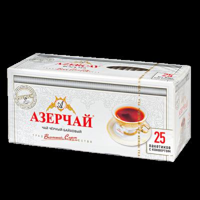 чай АЗЕРЧАЙ Черный байховый 25 пакетиков с конвертом 1 уп.х 24 шт.