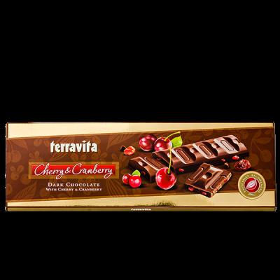 шоколад TERRAVITA темный с вишней и клюквой 225 г 1уп.х 9 шт.