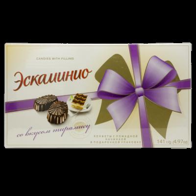 конфеты Эскаминио со вкусом Тирамису 141 г Спартак 1 уп. х 9 шт.