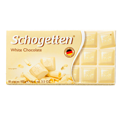 шоколад SCHOGETTEN White Chocolate 100 г 1уп. х 15шт.