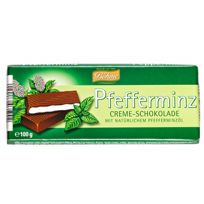 шоколад BOHME Pfefferminz темный с мятной начинкой 100 г 1уп.х 20шт