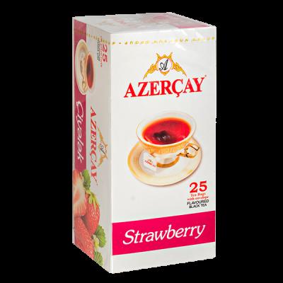 чай АЗЕРЧАЙ Клубника 25 пакетиков с конвертом 1 уп.х 24 шт.