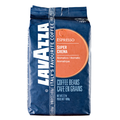 кофе LAVAZZA SUPER CREMA ESPRESSO 1 кг зерно 1 уп.х 6 шт.