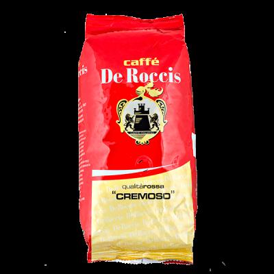 кофе CAFFE DE ROCCIS ROSSA CREMOSO 1 кг зерно 1 уп.х 6 шт.