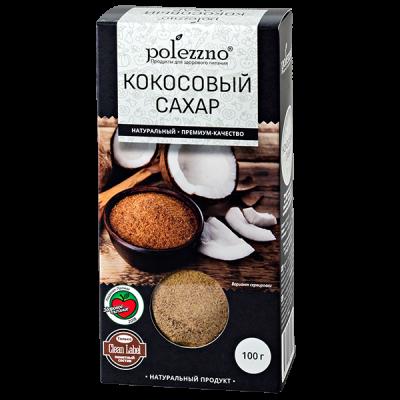 POLEZZNO сахар кокосовый 100 г 1уп.х 21 шт.