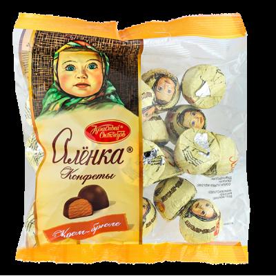 конфеты АЛЕНКА крем-брюле фасованные 250 г 1 уп. х 14 шт.