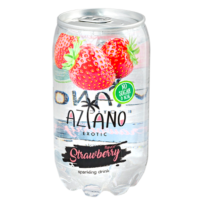 напиток AZIANO Strawberry 350 мл  П/Б 1 уп.х 24 шт.