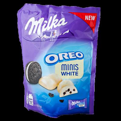 конфеты Милка OREO MINIS WHITE 153 г 1 уп.х 10 шт.