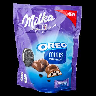 конфеты Милка OREO MINIS ORIGINALE 153 г 1 уп.х 10 шт.