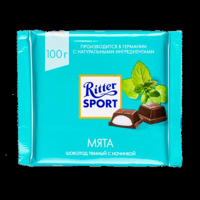 шоколад Риттер Спорт Мята 100 г 1уп.х 12шт.