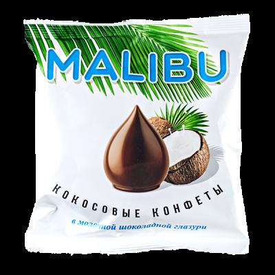 конфеты MALIBU кокосовые в молочной шокол глазури 140 г 1 уп.х 14 шт.