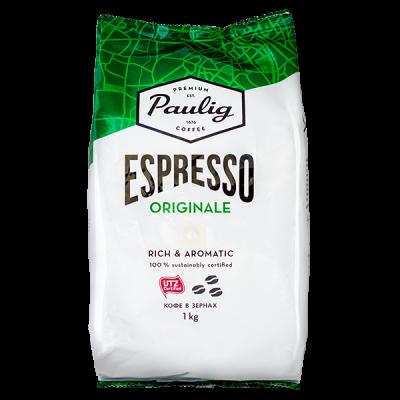 кофе PAULIG ESPRESSO ORIGINALE 1 кг зерно 1 уп.х 4 шт.