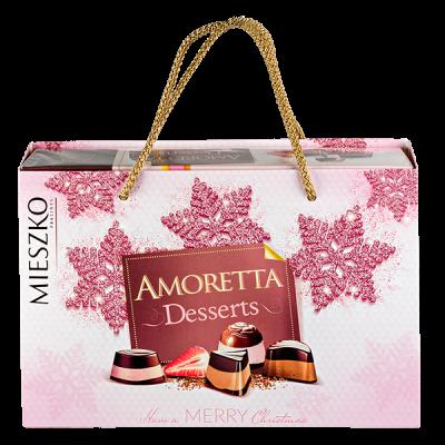 конфеты MIESZKO AMORETTA DESSERTS в подарочной сумочке 276 г 1 уп.х 7 шт.
