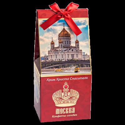 конфеты GRONDARD МОСКВА Храм ХС Темный марципан с гранатом 70 г 1 уп. х 9 шт.
