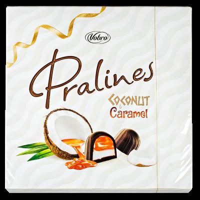конфеты VOBRO PRALINES COCONUT&CARAMEL 125 г 1 уп.х 12 шт.