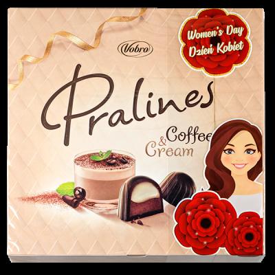 конфеты VOBRO PRALINES COFFEE&CREAM (8 Марта) 127 г 1 уп.х 12 шт.