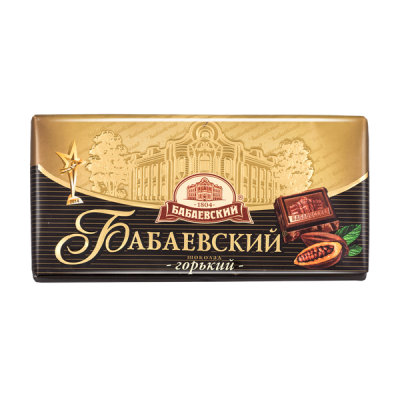 шоколад Бабаевский Горький 100 г 1 уп.х 17 шт.