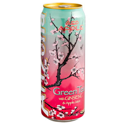 напиток ARIZONA Green Tea with Ginseng & Apple Juice 680 мл  Ж/Б 1 уп.х 24 шт.