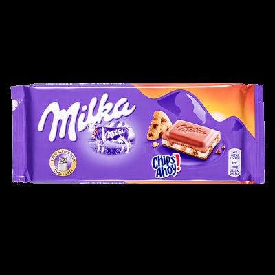 шоколад Милка Chips Ahoy 100 г 1 уп.х 22 шт.