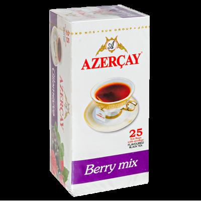 чай АЗЕРЧАЙ Черный ягодный микс 25 пакетиков с конвертом 1 уп.х 24 шт.