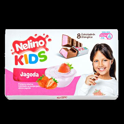 шоколад Nelino KIDS Клубника 100 г 1уп.х 20шт