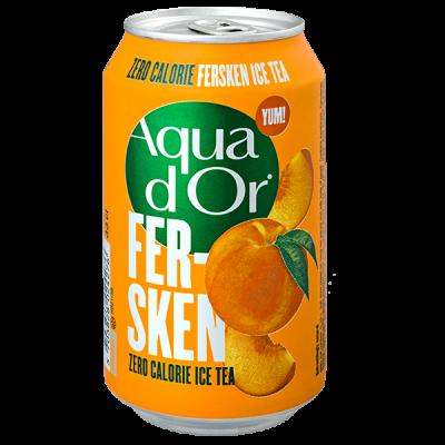 напиток AQUA DOR Fersken Ice Tea 330 мл  Ж/Б 1 уп.х 24 шт.