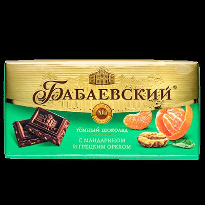 шоколад Бабаевский Темный с Мандарином и Грецким Орехом 100 г 1уп.х 17шт.