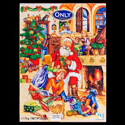 Набор шоколада ONLY Рождественский календарь 75 г 1 уп.х 24 шт.