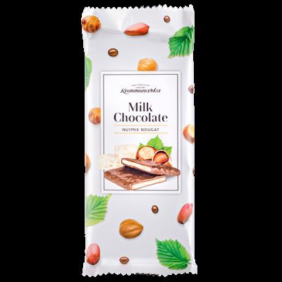 шоколад Коммунарка Молочный NUTMIX NOUGAT 85 г 1 уп.х 20 шт.