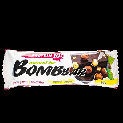 Батончик Bombbar протеиновый CHOCOLATE-HAZELNUT 60 г 1 уп.х 20 шт.
